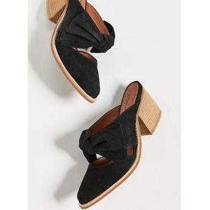 Jeffrey Campbell • Black Suede Bow Cyrus Heels